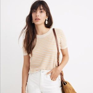 Madewell Striped Lakedale Sweater Tee